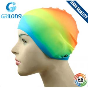 Шапочка для плавания Grilong, цветная (детская)