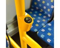Зарядное устройство в автобус или маршрутное такси на поручень