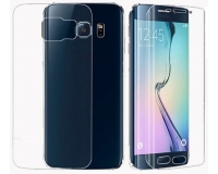 Защитная пленка 2 в 1 для Samsung Galaxy S6 Edge прозрачная, противоударная