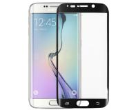 Защитное стекло на Samsung Galaxy S6 Edge Рамка: Черная