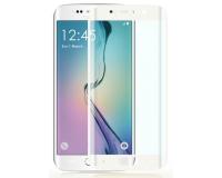 Защитное стекло на Samsung Galaxy S6 Edge Рамка: Белая