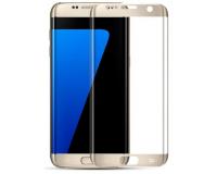Защитное стекло на Samsung Galaxy S7 Edge Рамка: Золото
