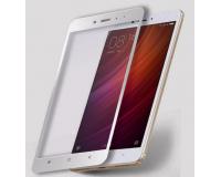 Защитное стекло с рамкой для Xiaomi Redmi Note 4 цвет: Белый