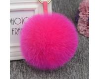 Брелок Пушистый шарик цвет: Красный