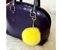 Брелок Пушистый шарик цвет: Желтый