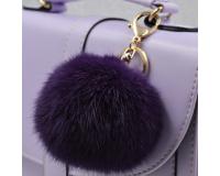 Брелок Пушистый шарик цвет: Фиолетовый