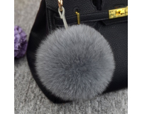 Брелок Пушистый шарик цвет: Серый