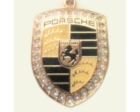 """""""Золотой"""" брелок для ключей автомобиля с логотипом """"Porsche"""""""