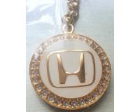 """""""Золотой"""" брелок для ключей автомобиля с логотипом """"Honda"""""""