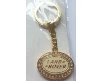 """""""Золотой"""" брелок для ключей автомобиля с логотипом """"Land Rover"""""""