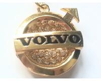 """""""Золотой"""" брелок для ключей автомобиля с логотипом """"Volvo"""""""