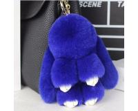 Брелок Кролик из меха цвет: Синий, 17-19 см