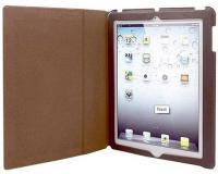 Кожаный чехол-книжка Denn DCA947M для Apple iPad/iPad 2, коричневый