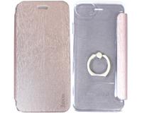 Чехол-книжка с кольцом Hoco 360° для iPhone 7, розовое золото