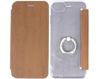 Чехол-книжка с кольцом Hoco 360° для iPhone 7, коричневый