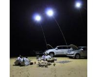 Фонарь прожектор светодиодный на телескопической удочке