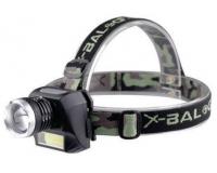X-Balog BL-6919B Фонарь налобный аккумуляторный светодиодный