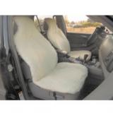 Glash A-100 Бело/Бежевая Меховая накидка - чехол на сиденье автомобиля