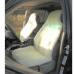 Glash A-100 Бело/Бежевая Меховая накидка на сиденье автомобиля из овчины, производство: Россия.