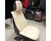 Glash A-500 Бело/Бежевая Меховая накидка - чехол на сиденье автомобиля
