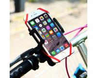 Держатель на руль велосипеда для смартфона со страховкой