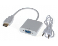 HDMI - VGA + Audio 3.5 jack Переходник Конвертер