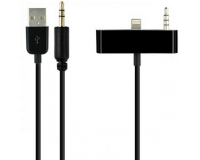 Адаптер Lightning-USB- AUX для iPhone 5/5S