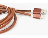 microUSB кабель экоКОЖА для Android устройств Samsung длина 1.2м