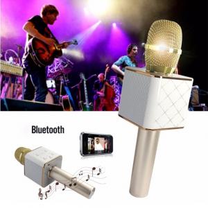 Tuxun Q7 Беспроводной караоке микрофон со встроенной колонкой, позволяет петь без дополнительного оборудования.