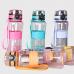Бутылка спортивная Clibe 500 мл с резиновой вставкой и ремешком