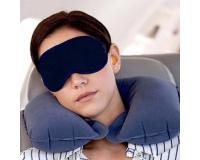 Подушка под шею туристическая + повязка для сна на глаза