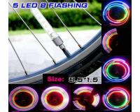 Светящиеся колпачки на ниппель колес '5 LED-Big' 10см