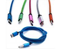 Прочный плетеный кабель USB - Type С кабель длина 1.0 метр