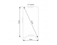"Universal protective glass Стекло для смартфона с диагональю экрана 5.3"" дюйма"