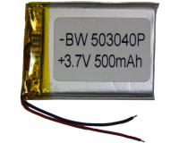 Аккумулятор универсальный 503040P 500mAh 3.7V, 40х30х5 мм