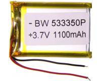 Аккумулятор универсальный 533350P 1100mAh 3.7V, 48х32х6 мм