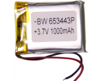 Аккумулятор универсальный 653443P 1000mAh 3.7V, 43х32х7 мм