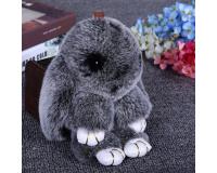 Брелок Кролик из меха цвет: Чернобурка, 17-19 см