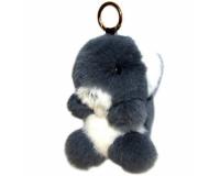 Брелок Мишка из меха цвет: Серый