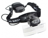 Kromatech MG9892C Лупа налобная 6x (очки), с подсветкой (2 LED)