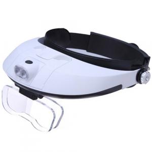 Kromatech MG81001-G Лупа-очки налобная бинокулярная 1.0-6x (очки), с подсветкой (2 LED)