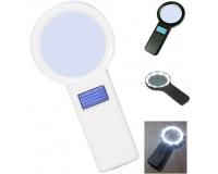 Лупа ручная круглая Magnifier 5x-82мм с подсветкой (10 LED)