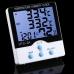 HTC-2A Домашняя мини-метеостанция с выносным датчиком (гигpoмeтp, тepмoмeтp, часы)