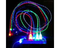 Светящийся кабель Led Lightning длиной 1.0м для iPhone 5-5s-6-6Plus-6S