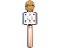 C-335 Беспроводной караоке микрофон, розово-золотой