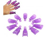 Зажимы для снятия гель-лака с ногтей Reusable Keeper