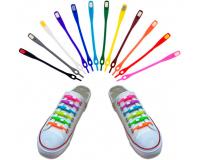 Шнурки силиконовые Simple shoelace, набор из 6 шт одного цвета