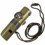 Свисток 7 в 1 с компасом, фонариком, термометром