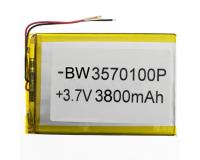 Аккумулятор для планшетов 3570100P 3800mAh 3.7V, 105x68x3.5 мм