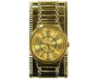 Зажигалка-часы газовая турбо с подсветкой, золотой